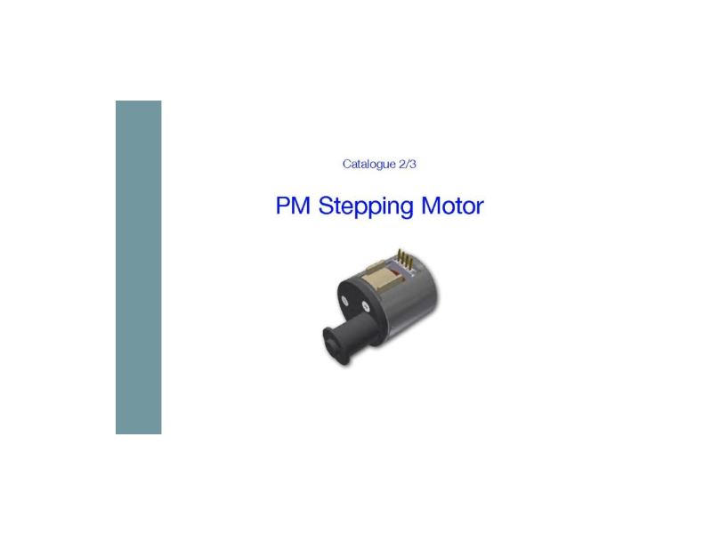 Permanent magnet stepping motor